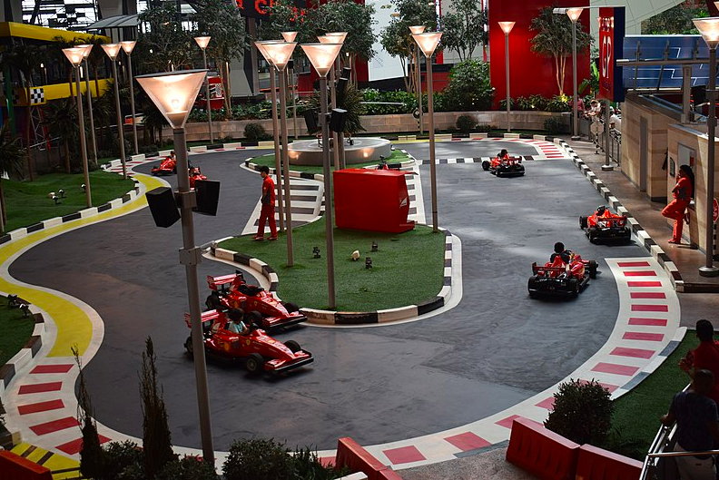 Go carting circuit in Ferrari World