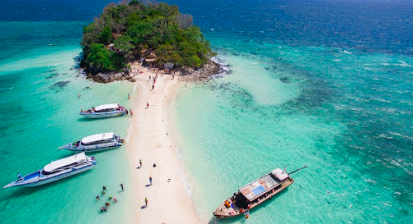 Virgin beaches of krabi,