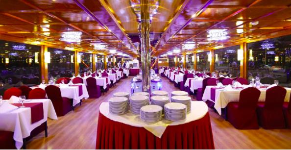 Inside Premium Dhow Cruise