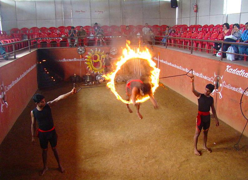 Kalari demonstration Thekkady