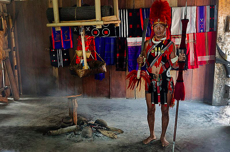 Tribes on the day of the Hornbill festival in Nagaland