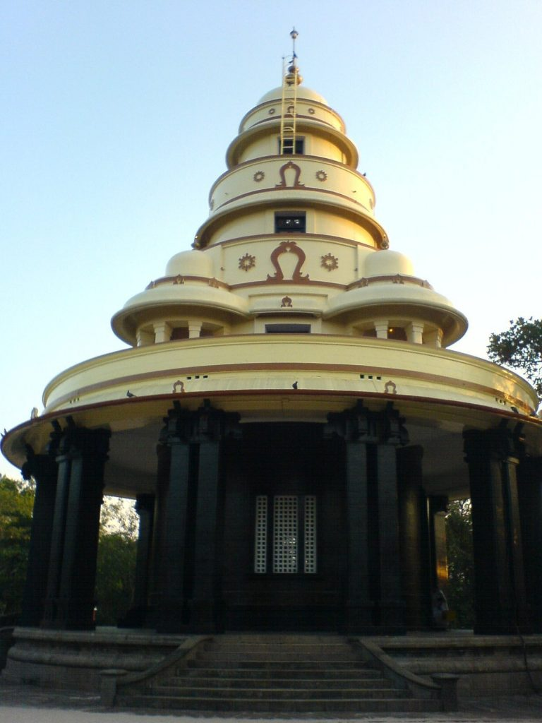 A view of Sivagiri Mutt in Varkala