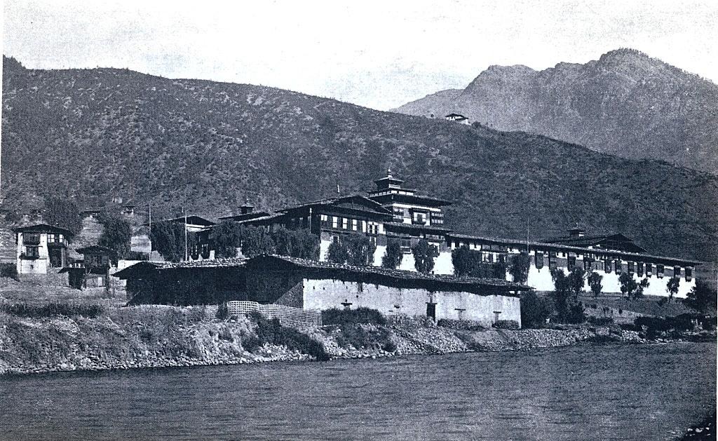 Tashichho Dzong during 1921.