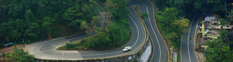 Curvy Hill roads of Wayanad