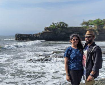 at a beautiful beach in Bali