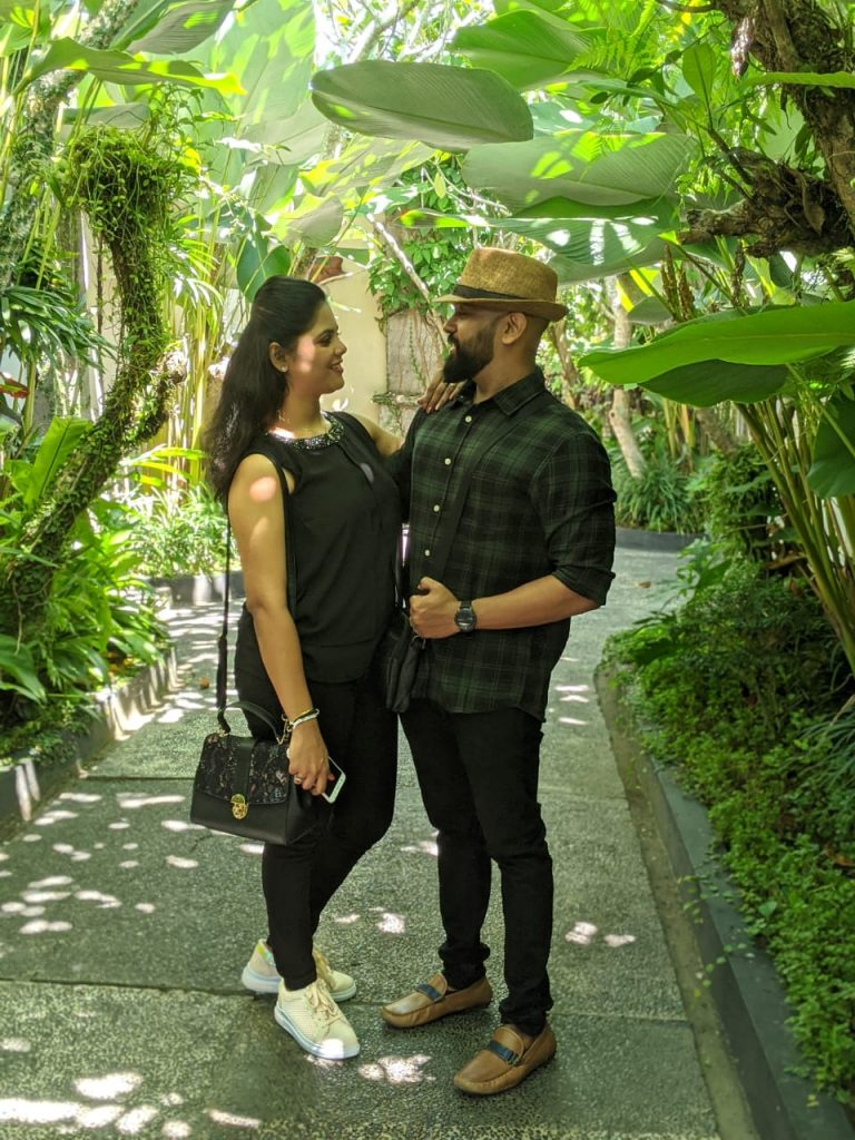 Amidst the greeneries during our Bali vacation