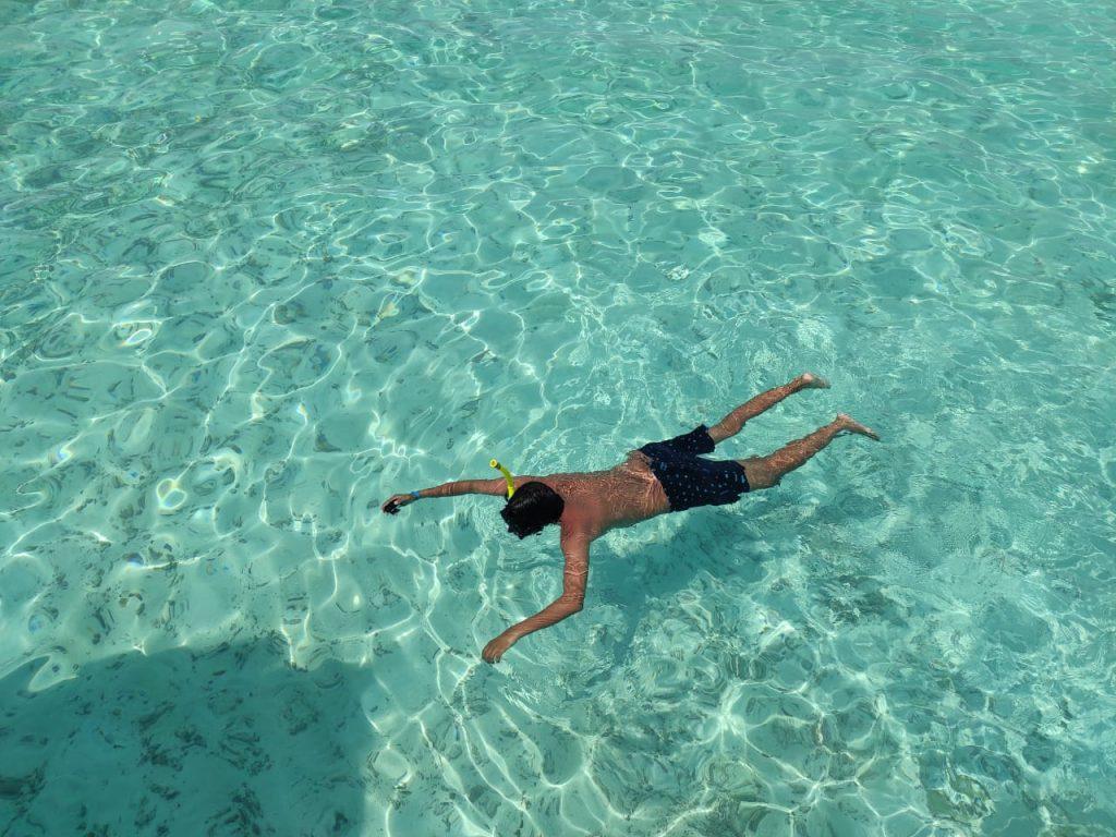 Floating at Maldives