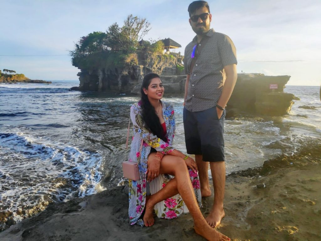 A couple in one of the beaches in Bali
