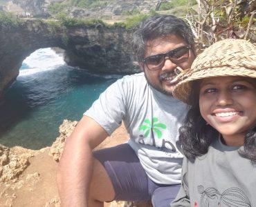 With my husband in Nusa Penida Island