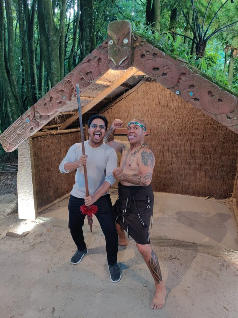 With the Maori people