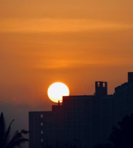 Sunset in Magarpatta City, Pune