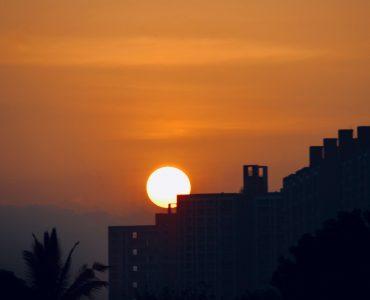 Sunset in Magarpatta City, Pune