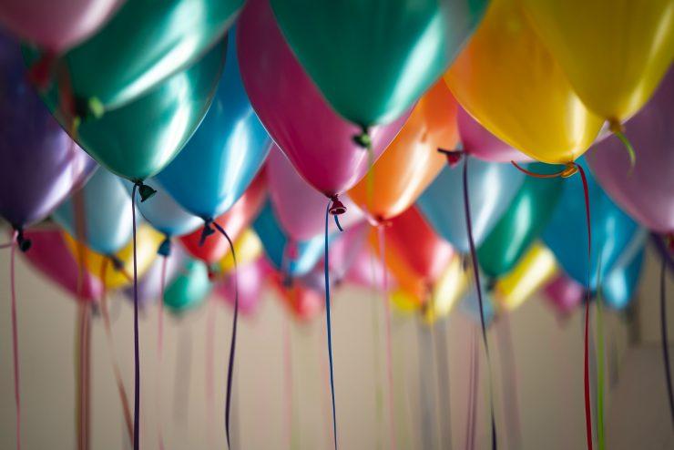 Balloons at a Jaipur resort for celebrations