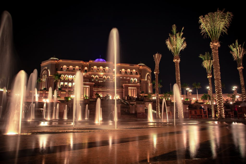 Emirates palace in lights