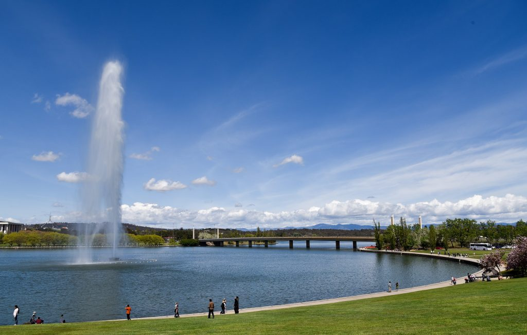 One of the best attractions to visit in Canberra, Lake Burley Griffin