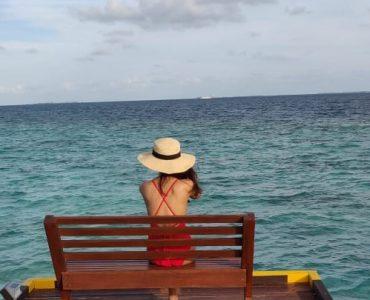 admiring the beach