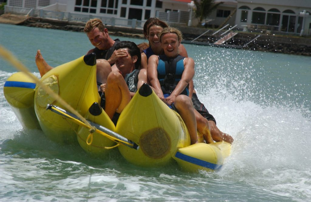 One of the best water activities in Andaman, Banana Boat Ride