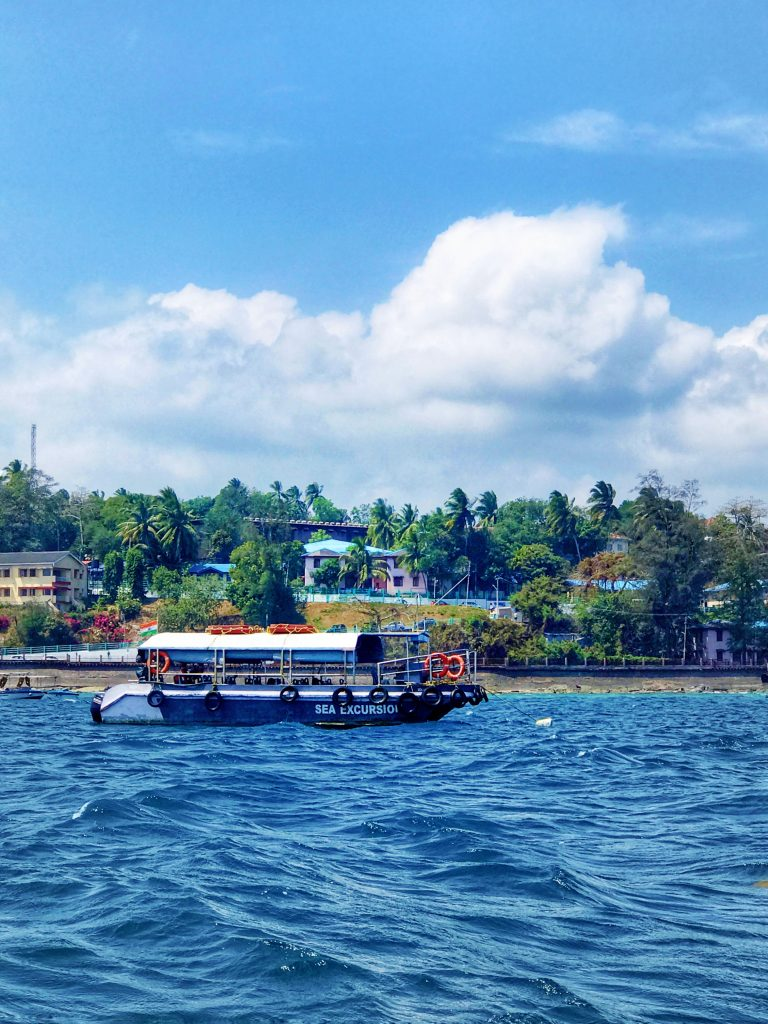 A boat sailing in the sea of Andaman