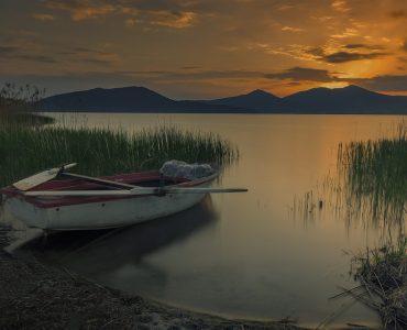 Chambal lake during sunset