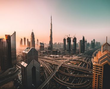 A view of the Dubai and its buildings