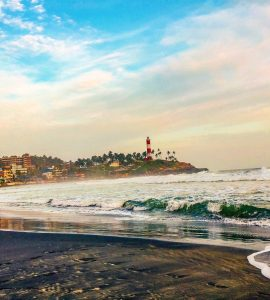A famous beach in Kovalam