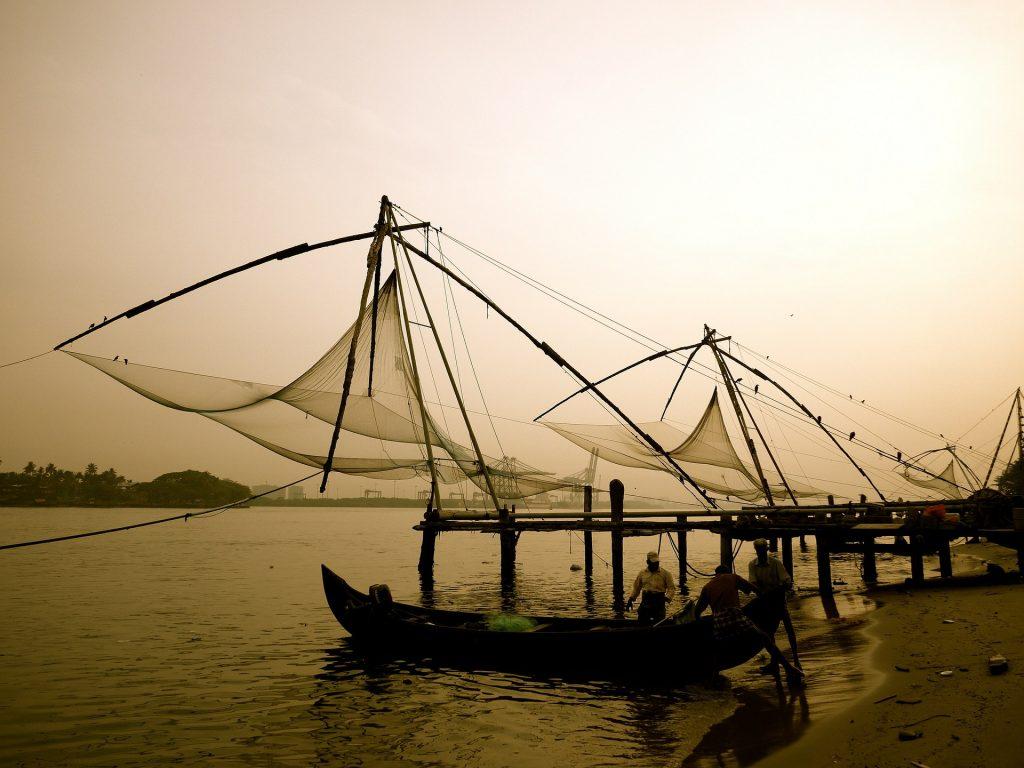 Chinese fishing, Kochi Fort