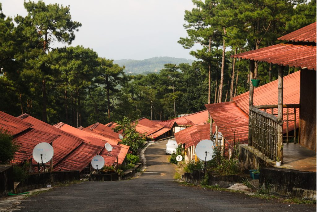 An amazing picture of some little houses in Shillong