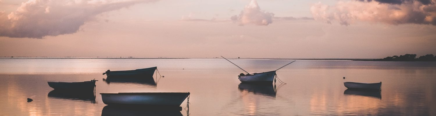 An amazing picture of the boats in Mauritius