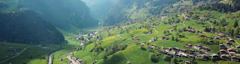 Grindelwald Ariel view