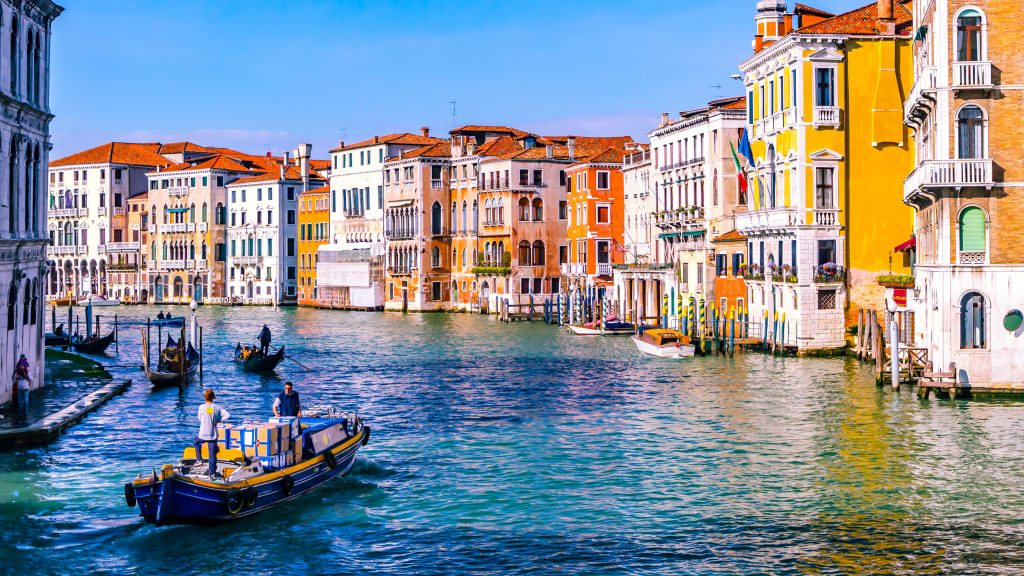 An amazing view of Venice, one of the places for a day trip from Milan