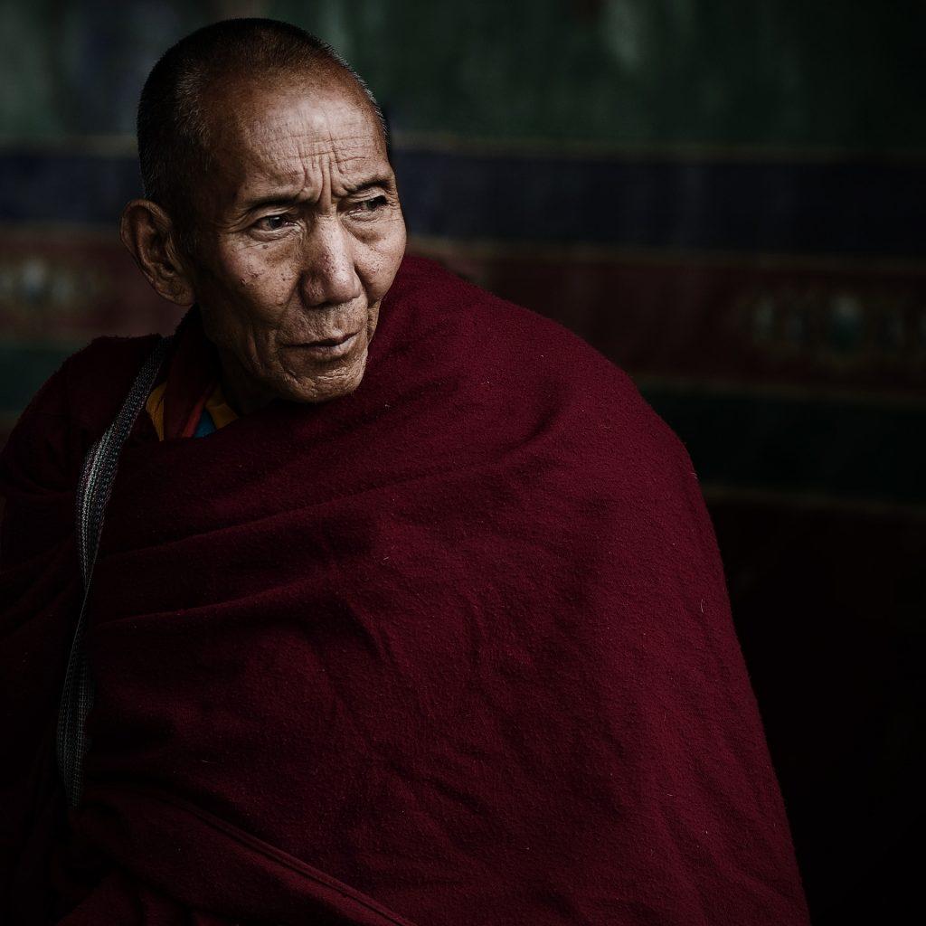 Old Monk in Tibet.
