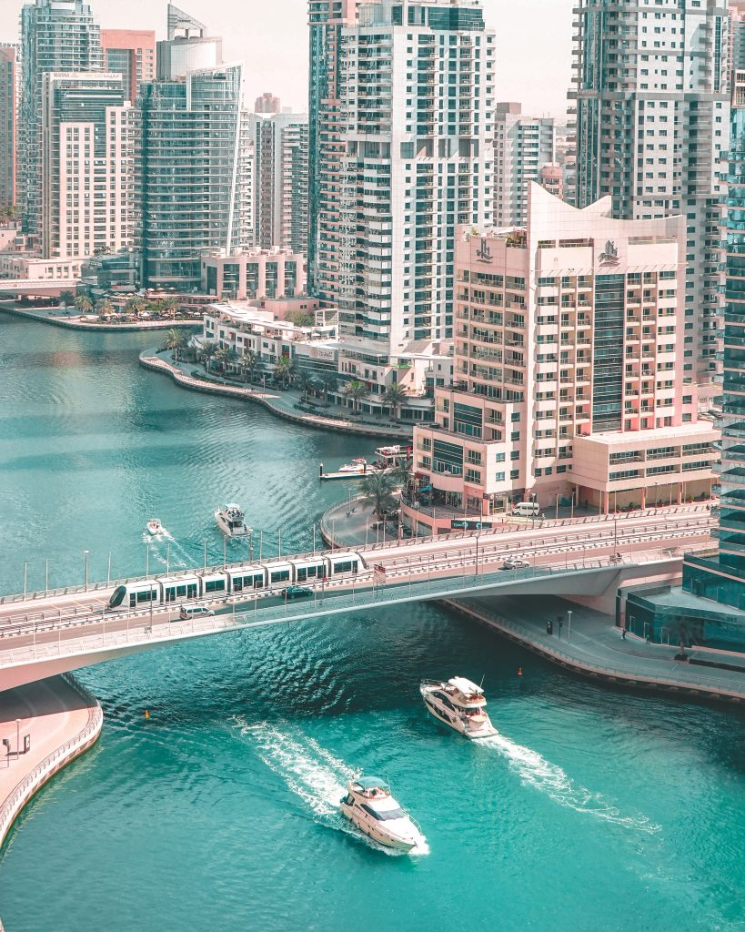 A beautiful picture of the UAE buildings