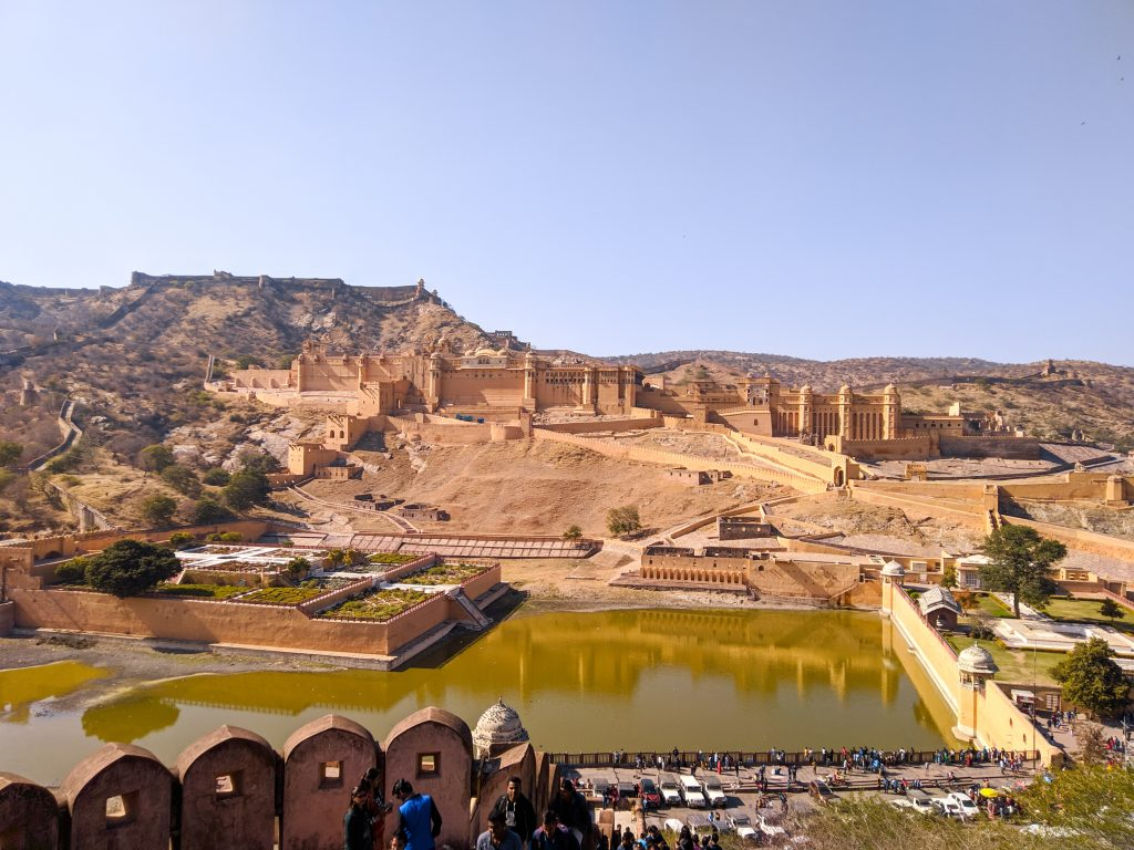 The Panoramic view of the Amer fort. Jaipur.