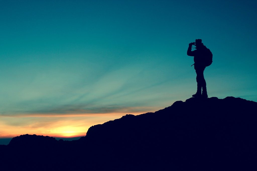 Trekking silhouette