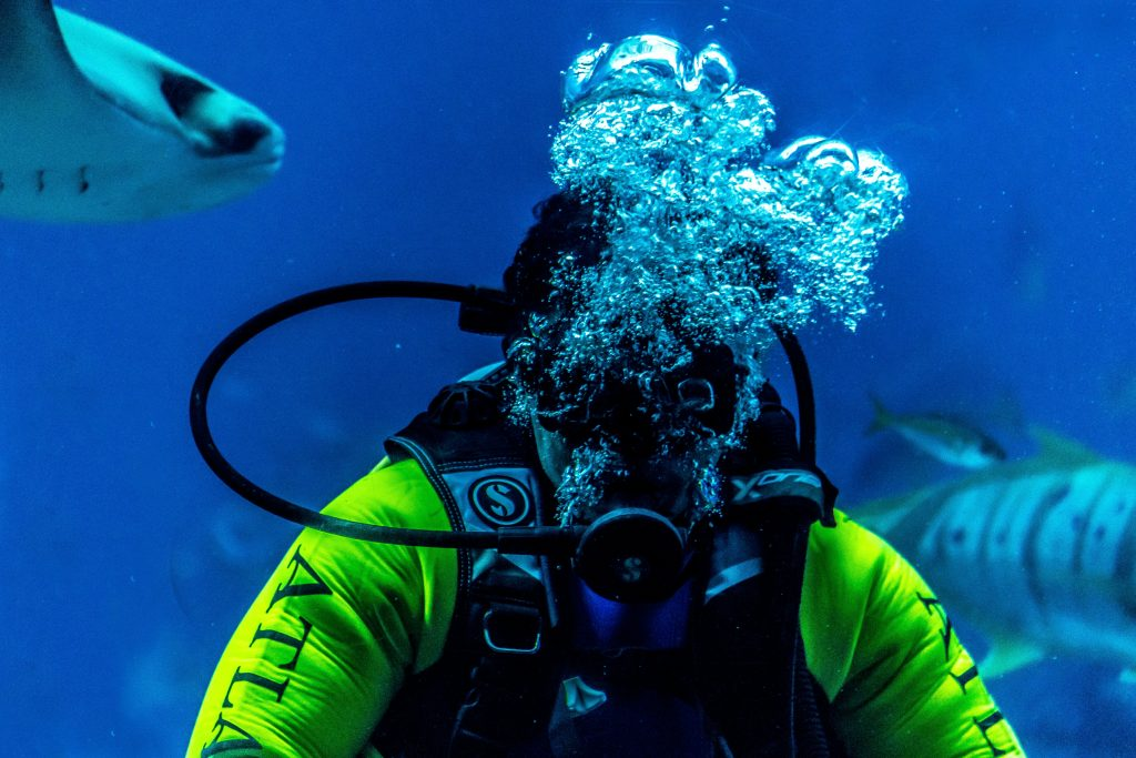 Scuba Diving, one of the best water activities in Andaman