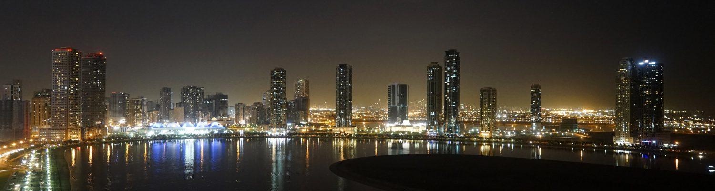 panoramic view of sharjah