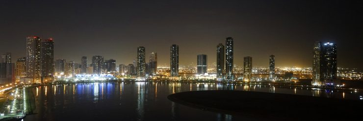panoramic view of sharjah