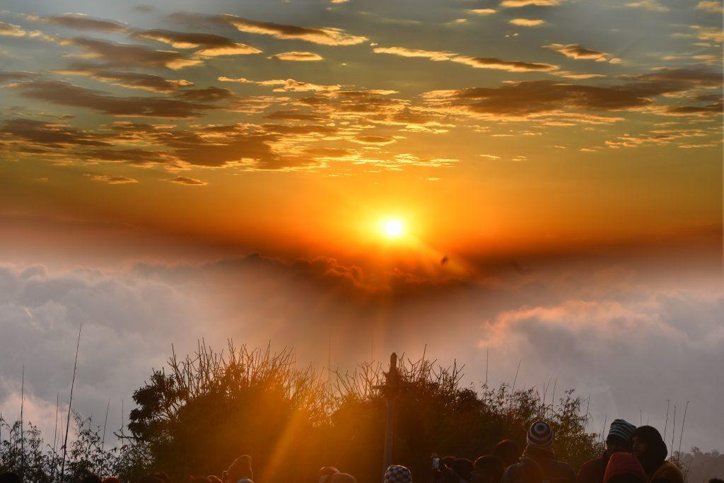 A beautiful sunrise in Darjeeling
