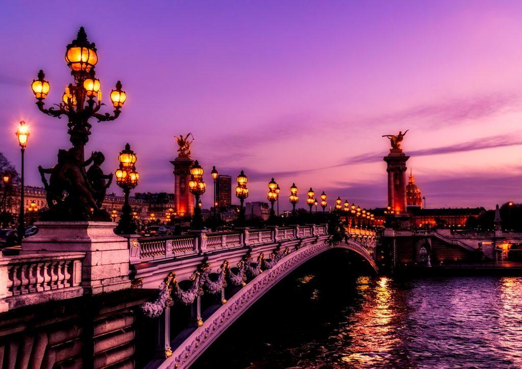 The Paris Bridge in France.