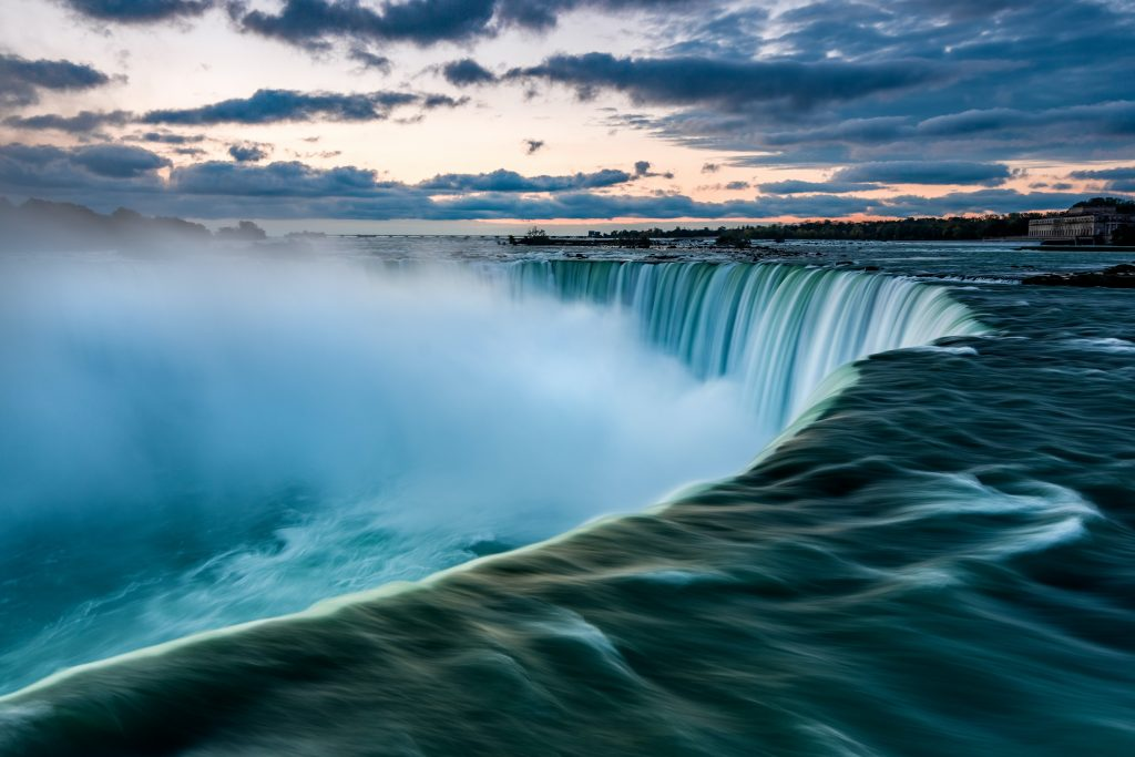 A picture that was taken in the Niagara falls in Canada