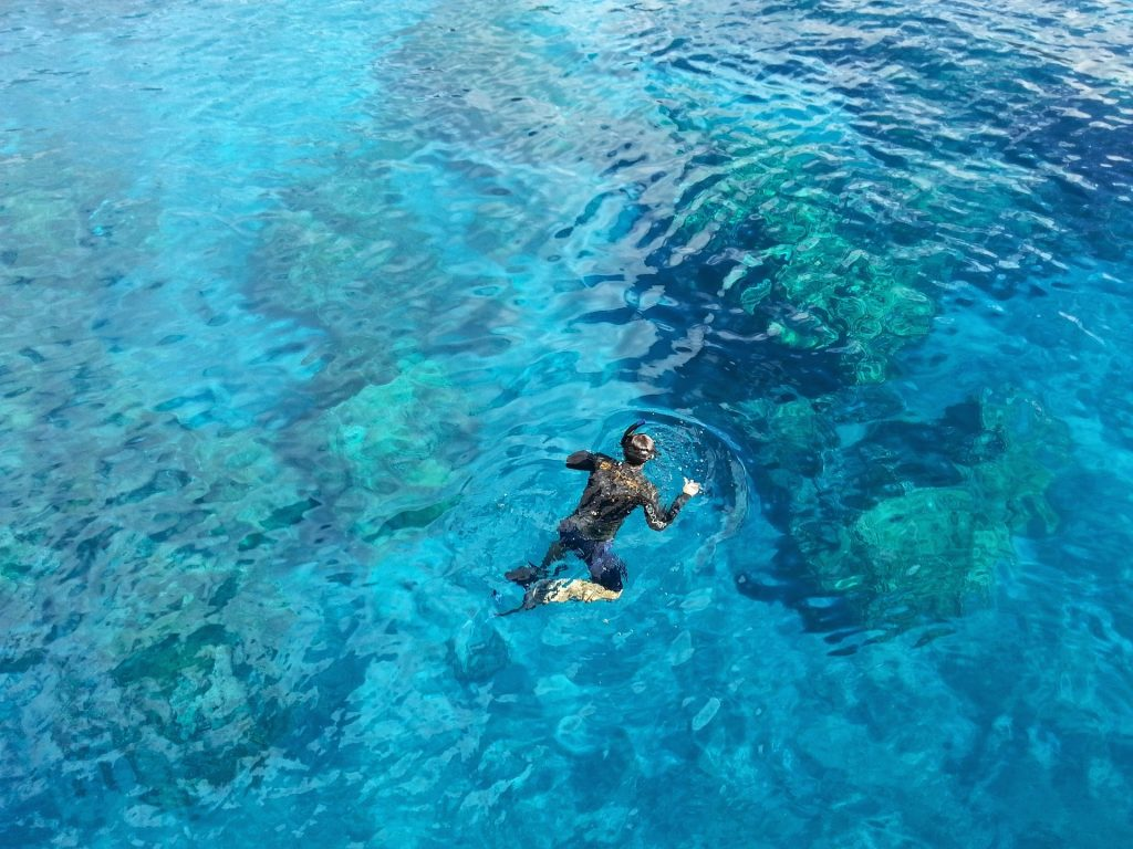 SNORKELLING IN ROCKHOUSE BEACH