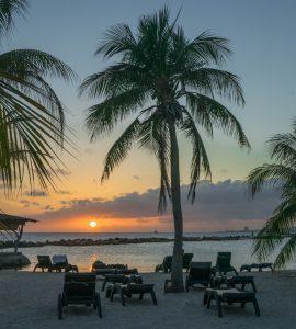 Sunset at Caribbean Island