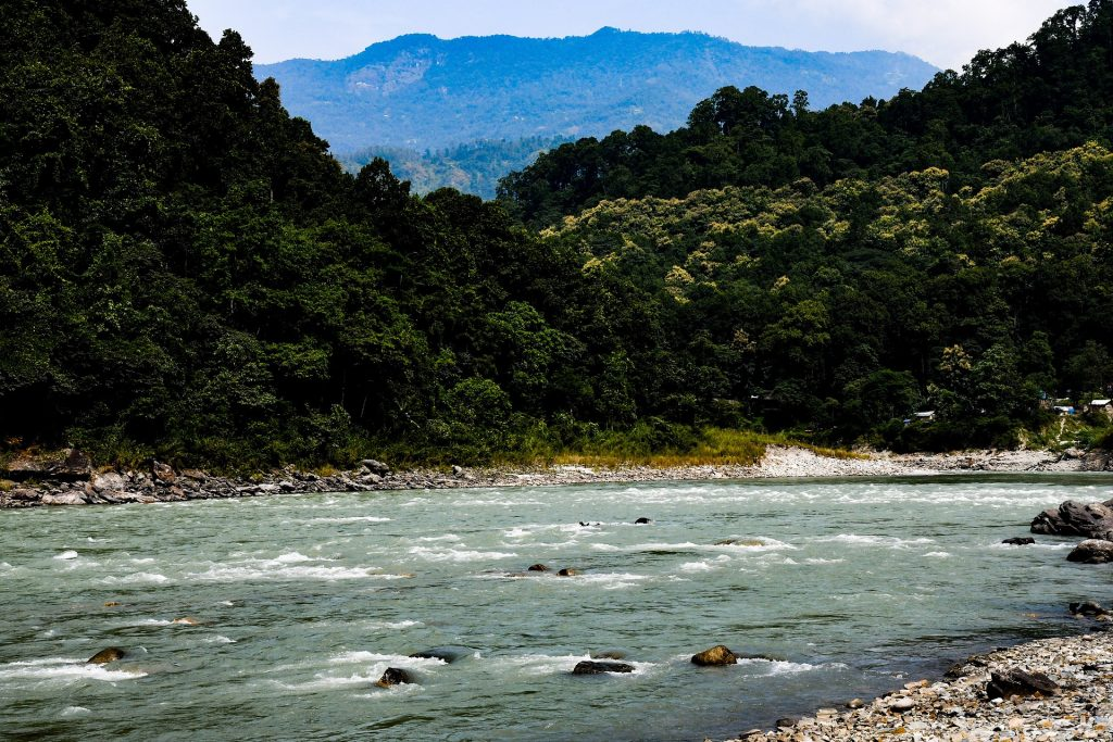 A picturesque view of the River Teesta