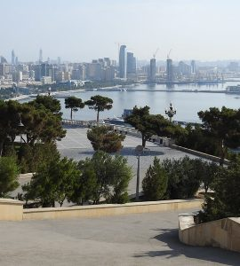 Baku seen from the Martyrs' Memorial