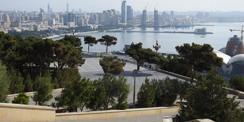 Baku seen from the Martyrs' Memorial