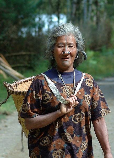 A Apatani woman of Arunachal Pradesh