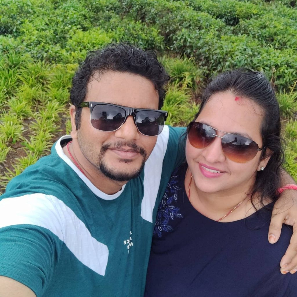 Selfie with my wife at Mauritius