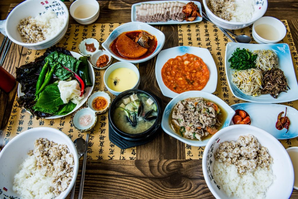 A elaborate Asian spread