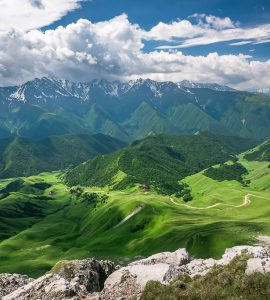 Scenic Caucasus mountain