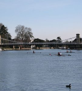 Marlow bridge across River Thames